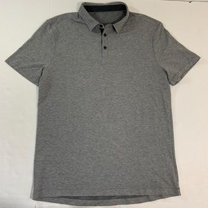 Men's Lululemon Gray Polo Shirt Recent Logo L